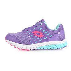 【LOTTO】男女童雙密度避震跑鞋-童鞋 訓練 慢跑 路跑 紫水藍桃紅