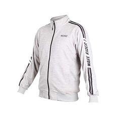 【MIZUNO】男1906系列針織外套-慢跑 立領外套 美津濃 灰黑白