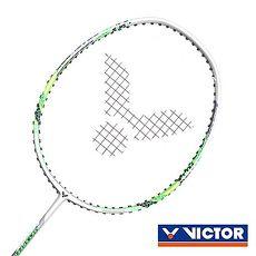 【VICTOR】極速-已穿線拍-訓練 羽球毛拍 羽毛球 勝利 銀螢光綠