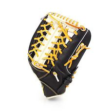 【MIZUNO】壘球手套-外野手用-訓練 棒球 美津濃 黑白黃