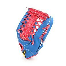 【MIZUNO】壘球手套-外野手用-訓練 棒球 美津濃 藍白紅