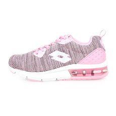 【LOTTO】ARIA KNIT 女氣墊跑鞋-慢跑 路跑 粉紅