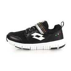 【LOTTO】SPACERUN 男女童太空漫步 輕量跑鞋-慢跑 路跑 魔鬼氈 童鞋 黑白銀
