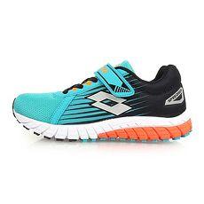 【LOTTO】男女童疾速輕量跑鞋-魔鬼氈 童鞋 慢跑 路跑 湖水綠黑