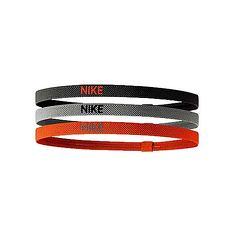 【NIKE】彈性髮帶-3條入 頭帶 慢跑 路跑 有氧 瑜珈 灰橘
