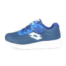 【LOTTO】女兒童輕量跑鞋-慢跑 路跑 藍黑白