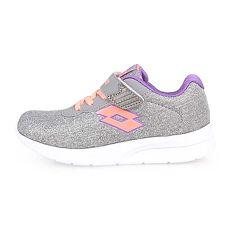 【LOTTO】女兒童輕量跑鞋-慢跑 路跑 灰粉橘紫