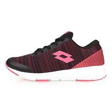 【LOTTO】女城市輕量跑鞋-慢跑 路跑 黑亮粉紅