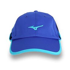 【MIZUNO】運動路跑帽-遮陽 防曬 慢跑 鴨舌帽 帽子 美津濃 藍水藍