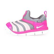 【NIKE】DYNAMO FREE-TD女小童運動鞋-毛毛蟲鞋 慢跑 童鞋 灰白粉