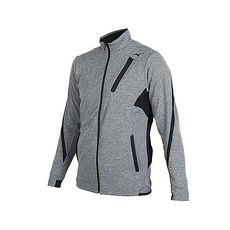 【MIZUNO】男針織運動外套-美津濃 慢跑 路跑 立領外套 麻花深灰黑