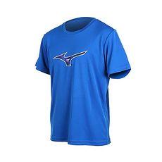 【MIZUNO】男短袖T恤-短T 短袖上衣 慢跑 路跑 美津濃 藍白黑