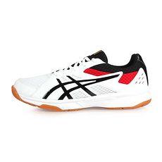 【ASICS】UPCOURT 3 男排羽球鞋-排球 羽球 亞瑟士 白黑紅