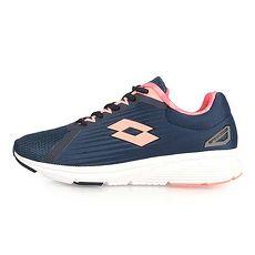 【LOTTO】女疾速輕量跑鞋-慢跑 路跑 深藍粉橘