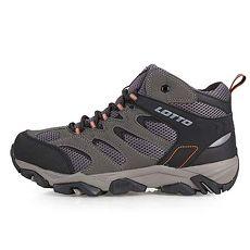 【LOTTO】男防潑水戶外越野鞋-登山 露營 戶外 慢跑 灰黑
