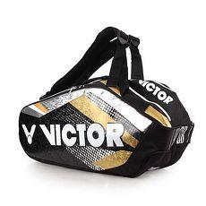 【VICTOR】12支裝羽拍包-羽球 羽毛球 球拍包 勝利 黑白金銀