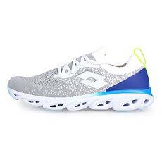 【LOTTO】男編織風動跑鞋-慢跑 路跑 灰白藍