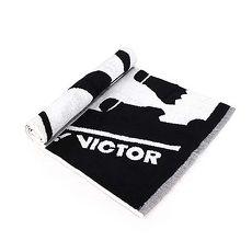 【VICTOR】運動毛巾-一只入 海邊 浴巾 游泳 戲水 慢跑 路跑 勝利 黑白