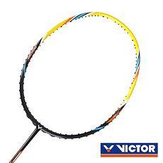【VICTOR】極速球拍-4U-勝利 羽毛球拍 羽球拍 黃黑橘