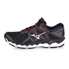 【MIZUNO】WAVE SKY 2 女慢跑鞋-路跑 美津濃 黑灰紫紅