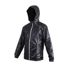 【MIZUNO】男路跑風衣外套-防潑水 立領外套 連帽外套 美津濃 黑灰
