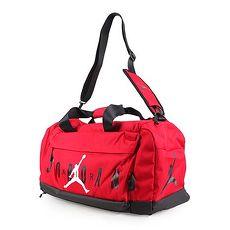 【NIKE】JORDAN 行李袋-運動袋 旅行包 手提袋 斜背包 飛人喬丹 紅黑白
