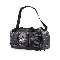 【NIKE】GOLF 高爾夫衣物包-旅行袋 運動包 側背包 手提袋 迷彩黑銀