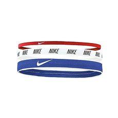 【NIKE】混合寬度髮帶-3條入 頭帶 慢跑 路跑 有氧 瑜珈 藍白紅黑