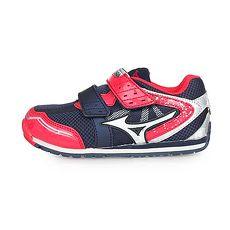 【MIZUNO】ASOBI KIDS 男女中童慢跑運動鞋-路跑 美津濃 丈青紅銀