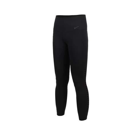 【NIKE】女運動七分褲-路跑 慢跑 健身 緊身長褲 黑L