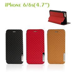 Starking IPHONE6/6S4.7吋仿皮製保護套駝色紅色
