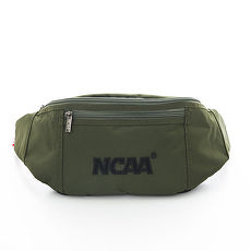 NCAA 宅生運動小腰包 絨毛LOGO 隨身萬用小腰包 - 絨字深綠