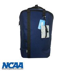 NCAA簡約設計防潑水護脊後背包(深藍/灰/黑)
