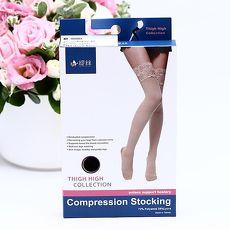 【TISI緹絲】200D 蕾絲漸進式壓力大腿襪 (1組3雙)萊卡膚色XL