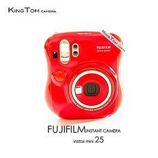 FUJIFILM Instax mini 25 拍立得相機 限量紅(公司貨)-送卡通底片+相本