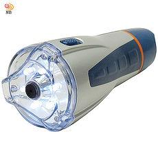 月陽超白光6LED紅光3LED警示聲控緊急照明手電筒工作燈HZ819