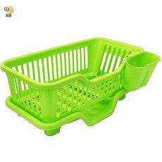 月陽大容量三件排水式碗盤收納瀝水架餐具架筷籠442317