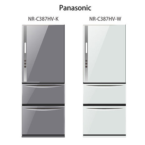 【Panasonic.國際牌】ECONAVI。385L三門變頻電冰箱/瑭瓷白(NR-C387HV)