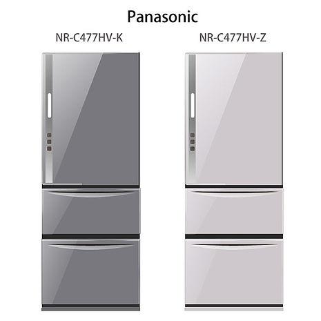 【Panasonic.國際牌】ECONAVI。468L三門變頻電冰箱/水晶紫(NR-C477HV)