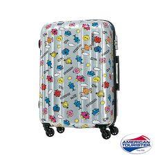 AT美國旅行者 28吋奇先生妙小姐聯名印花硬殼TSA行李箱粉色