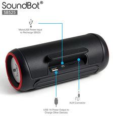 美國聲霸SoundBot SB525 藍牙4.0 攜帶式喇叭 + 行動電源