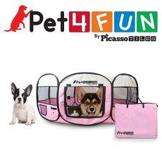 美國PicassoTiles Pet4Fun PN935 攜帶型寵物圍欄 (直徑89cm x 37cm)