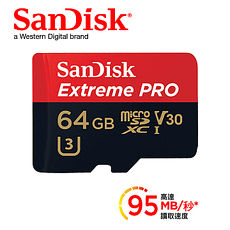 SanDisk Extreme Pro Micro SD 64G 95Mb/s V30記憶卡