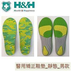 南良醫用矯正鞋墊(未滅菌) H&H 靜態鞋墊_久站者專用迷彩綠 M 26.5~28 cm