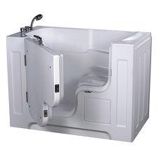 【海夫健康生活館】開門式浴缸 大開口 115A-T 恆溫水柱按摩款 (132*740*102cm)