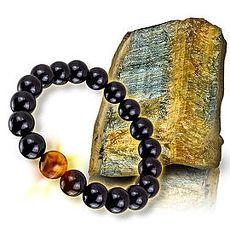 【恩悠數位】NU 鈦鍺能量精品 能量珠 佛珠手圈10mm虎眼珠能量珠手圈