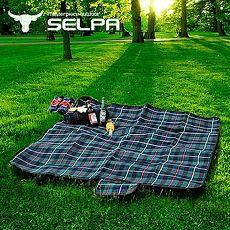 【韓國SELPA】戶外防水絨毛野餐墊(大型) /寶寶爬行墊/地墊/地布-特殺