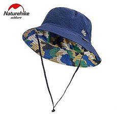 【Naturehike】迷彩潮流款速乾透氣漁夫帽/遮陽帽/防曬帽 (迷彩深藍)