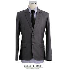 【男人幫】雅痞型男成熟風灰色雙扣條紋西裝外套(C5318)