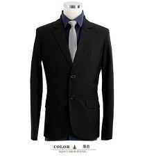 男人幫大尺碼】C5320*韓版修身顯瘦【經典黑色格紋窄版雙扣西裝外套】獨特韓版紳士雅痞款